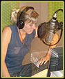 Lisa Henry recording voice over for Saving Soweto.